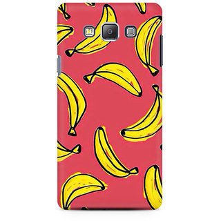 RAYITE Banana Fruity Pattern Premium Printed Mobile Back Case Cover For Samsung A7