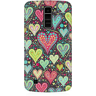 RAYITE Hearts Pattern Premium Printed Mobile Back Case Cover For LG K7