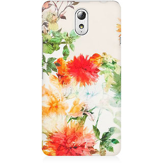 RAYITE Watercolor Flower Premium Printed Mobile Back Case Cover For Lenovo Vibe P1M