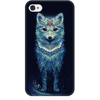 RAYITE Geometric Fox Art Preum Printed Mobile Back Case Cover For   4/4s