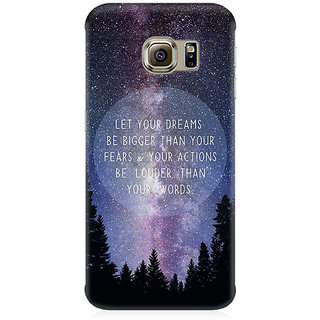 RAYITE Dream Big Premium Printed Mobile Back Case Cover For Samsung Note 7
