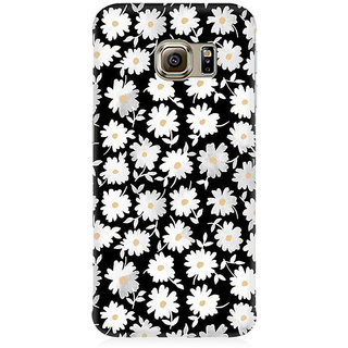 RAYITE White Daisy Pattern Premium Printed Mobile Back Case Cover For Samsung Note 7