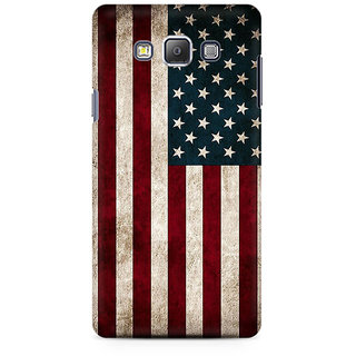 RAYITE Classic American Flag Premium Printed Mobile Back Case Cover For Samsung A7