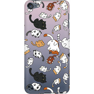 RAYITE Cat Fall Pattern Preum Printed Mobile Back Case Cover For  IPod Touch 6