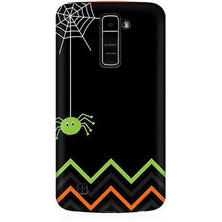 RAYITE Spider Chevron Premium Printed Mobile Back Case Cover For LG K10