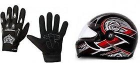 Combo Black Knighthood Gloves+ Helmet