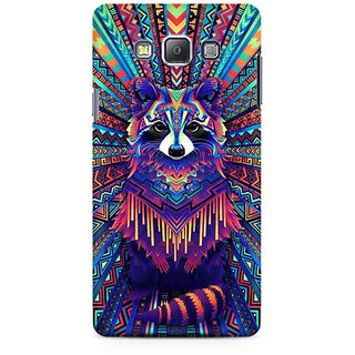 RAYITE Holy Geometrci Dog Premium Printed Mobile Back Case Cover For Samsung On5