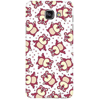 RAYITE Cute Pandas Pattern Premium Printed Mobile Back Case Cover For Samsung A5 2016
