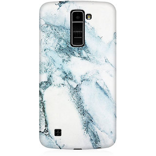 RAYITE Ice Marble Granite Premium Printed Mobile Back Case Cover For LG K10