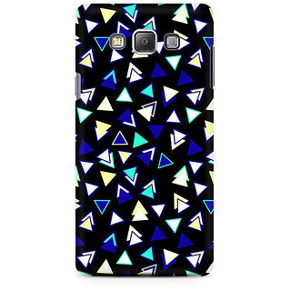 RAYITE Little Triangles Pattern Premium Printed Mobile Back Case Cover For Samsung A7