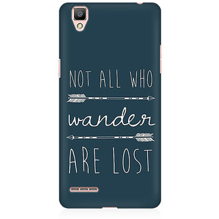 RAYITE Wander Lost Premium Printed Mobile Back Case Cover For Oppo R9