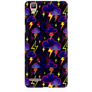 RAYITE Cloud And Thunderstorme Premium Printed Mobile Back Case Cover For Oppo R9
