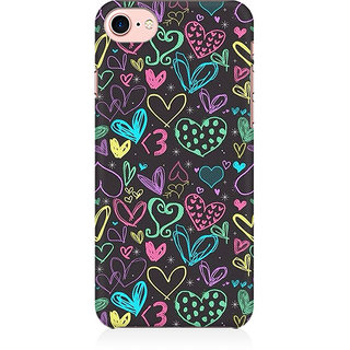 RAYITE Colourful Hearts Sketch Preum Printed Mobile Back Case Cover For   7