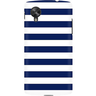 RAYITE White And Blue Premium Printed Mobile Back Case Cover For LG Nexus 5