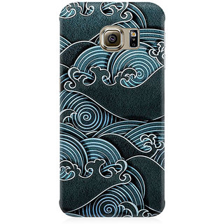 RAYITE Black Sea Waves Premium Printed Mobile Back Case Cover For Samsung Note 7