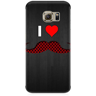 RAYITE I Love Moustache Premium Printed Mobile Back Case Cover For Samsung Note 7