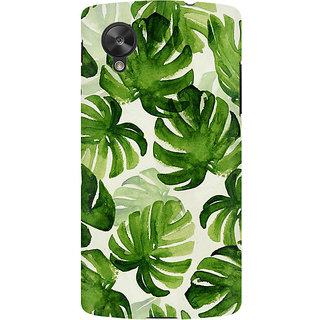 RAYITE Palm Leaf Premium Printed Mobile Back Case Cover For LG Nexus 5