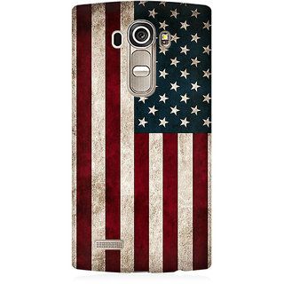 RAYITE Classic American Flag Premium Printed Mobile Back Case Cover For LG G4