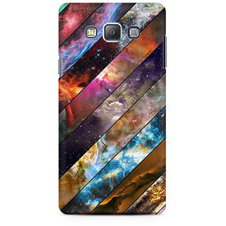 RAYITE Galaxy Wood Pattern Premium Printed Mobile Back Case Cover For Samsung A7