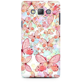 RAYITE Butterflies Premium Printed Mobile Back Case Cover For Samsung A7