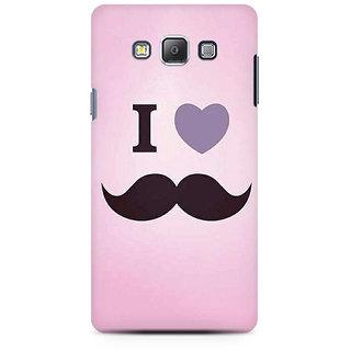 RAYITE I Love Moustache Premium Printed Mobile Back Case Cover For Samsung A7