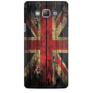 RAYITE UK Flag On Wood Premium Printed Mobile Back Case Cover For Samsung A7