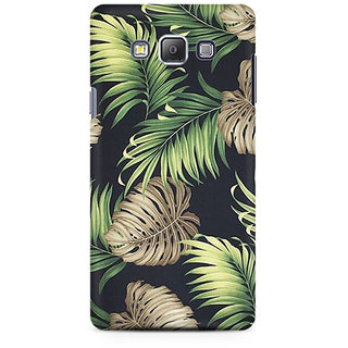 RAYITE Tropical Leafs Premium Printed Mobile Back Case Cover For Samsung A7