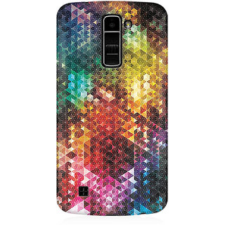 RAYITE Colourful Glitter Print Art Premium Printed Mobile Back Case Cover For LG K10