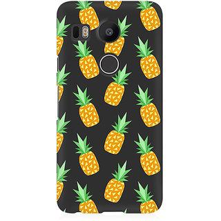 RAYITE Geometric Pineapple Premium Printed Mobile Back Case Cover For LG Nexus 5X