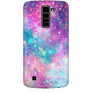 RAYITE Galaxy Print Premium Printed Mobile Back Case Cover For LG K7