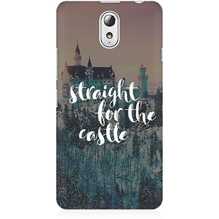 RAYITE Straight For The Castle Premium Printed Mobile Back Case Cover For Lenovo Vibe P1M