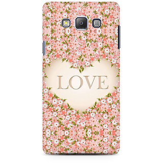 RAYITE Love Floral Premium Printed Mobile Back Case Cover For Samsung On5