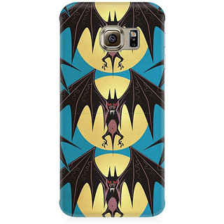 RAYITE Bat Pattern Premium Printed Mobile Back Case Cover For Samsung Note 7