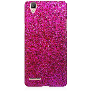 RAYITE Pink Glitter Print Abstract Premium Printed Mobile Back Case Cover For Oppo R9