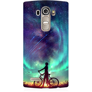 RAYITE Dream On Galaxy Premium Printed Mobile Back Case Cover For LG G4