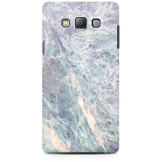 RAYITE Grey Marble Premium Printed Mobile Back Case Cover For Samsung On5