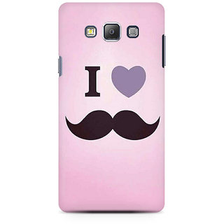 RAYITE I Love Moustache Premium Printed Mobile Back Case Cover For Samsung On5