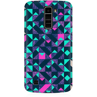RAYITE Geometric Premium Printed Mobile Back Case Cover For LG K10