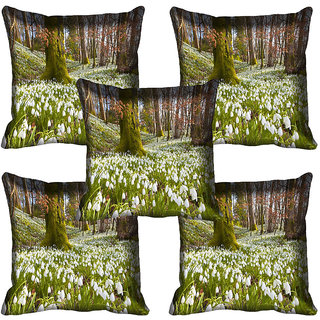 meSleep Flower Digital printed Cushion Cover (18x18) - 18CD-63-113-05