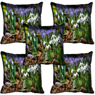 meSleep Flower Digital printed Cushion Cover (18x18) - 18CD-63-144-05