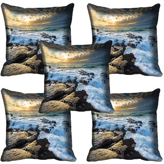 meSleep Nature Digital printed Cushion Cover (18x18) - 18CD-64-154-05