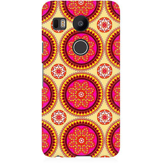 RAYITE Mandala Pattern Premium Printed Mobile Back Case Cover For LG Nexus 5X