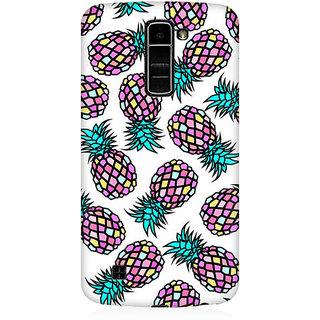 RAYITE Geometric Retro Pineapple Premium Printed Mobile Back Case Cover For LG K7