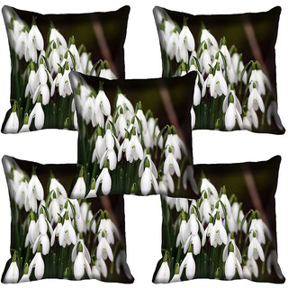 meSleep Flower Digital printed Cushion Cover (18x18) - 18CD-63-131-05