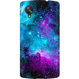 RAYITE Blue Galaxy Premium Printed Mobile Back Case Cover For LG Nexus 5