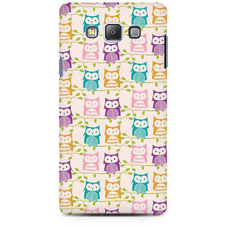 RAYITE Colourful Owl Premium Printed Mobile Back Case Cover For Samsung On5 Pro