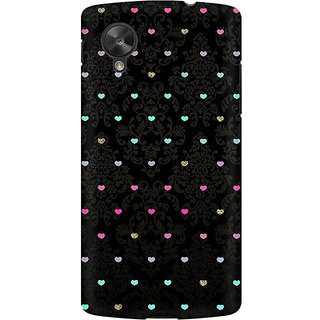 RAYITE Little Hearts Pattern Premium Printed Mobile Back Case Cover For LG Nexus 5