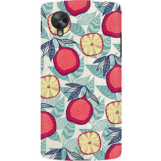 RAYITE Pineapple Pattern Premium Printed Mobile Back Case Cover For LG Nexus 5