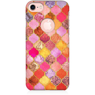 RAYITE Colourful Indian Pattern  Preum Printed Mobile Back Case Cover For   7 With Round Cut