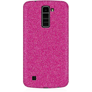 RAYITE Pink Glitter Print Premium Printed Mobile Back Case Cover For LG K10